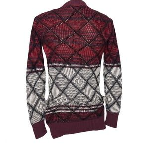 Mossimo Supply Co. Sweaters - Fair Isle Print Open Front Cardigan Sweater